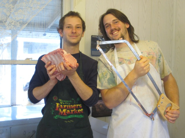 Sean and Jesse proudly display the New Years roast.