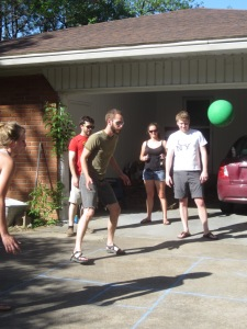 4-square at Mel's birthday party!