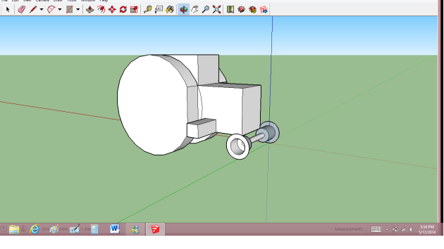P was playing with sketchup in my classroom during my prep on Friday while everything was crazy because of regionals. He made this awesome tractor!