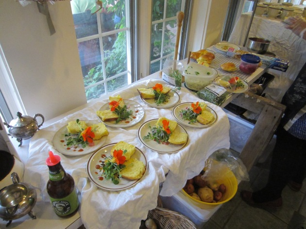 The second course was plated for each individual.