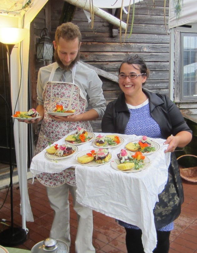"""The chefs presented each course to the guests with a description: """"the light, fresh look of our pork belly sliders is deceiving. You'll find them surprisingly rich."""""""