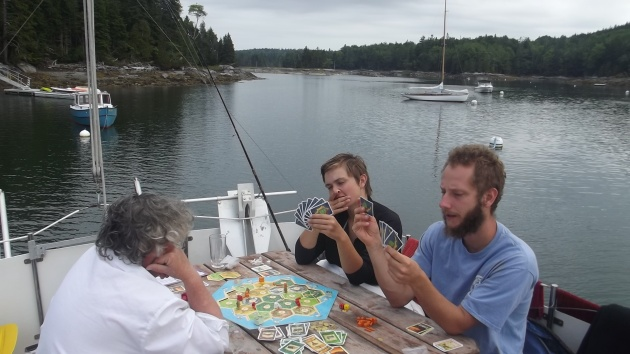 I totally vanquished my foes and conquered the island of Catan in Seal Cove.