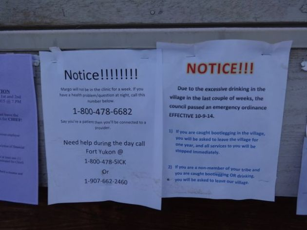 Here's a closeup of the flyers on the post office