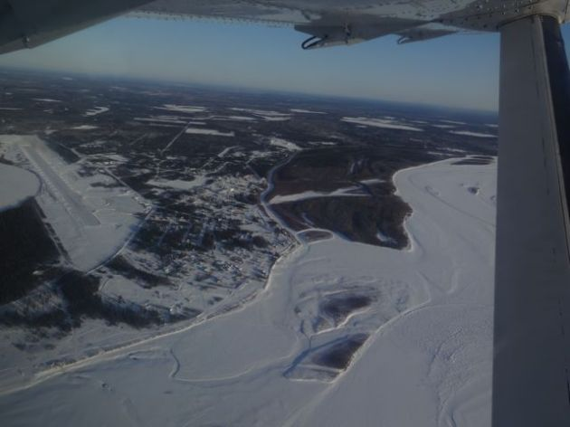 This is Fort Yukon from the air.